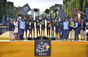 Tour de France 2015 - 102a Edizione - 21a tappa Sevres - Paris Champs Elysees 109.5 km - 26/07/2015 - Movistar - foto Vincent Kalut/PN/BettiniPhoto©2015