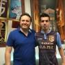 Nella foto, accanto al direttore sportivo Filippo Scozzesi, il nuovo acquisto della Fidentina Andrea Ierardi, prelevato dal Fiorano