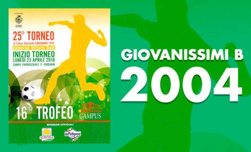 Giovanissimi B 2004 - Torneo Carignano 2018