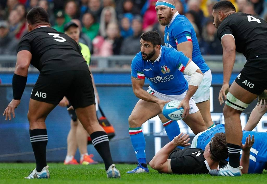 Rugby		 			Test Match Italia battuta dagli All Blacks 66-3