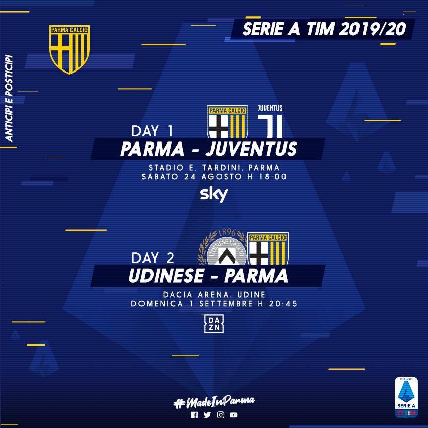 Calendario Serie A 2020 18 Anticipi E Posticipi.La Serie A Si Apre Al Tardini Parma Juve Alle 18 Di Sabato