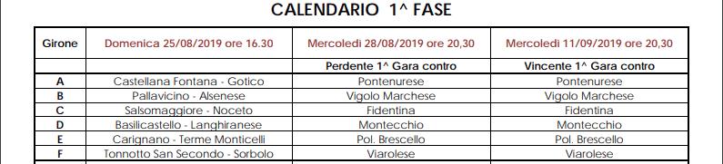 Calendario Promozione Campania.Campionato E Coppa Italia 2019 2020 Gironi E Calendari Di