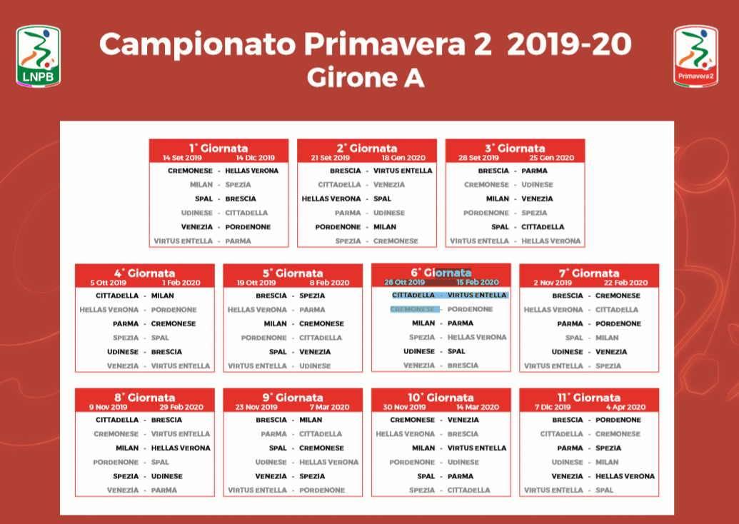 Calendario Milan Campionato.Primavera 2 Ecco Il Calendario Debutto Esterno Con L